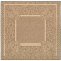Safavieh Courtyard 7-Foot 10-Inch x 7-Foot 10-Inch Nova Indoor/Outdoor Rug in Brown/Natural