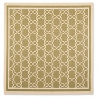 Safavieh Courtyard 7-Foot 10-Inch x 7-Foot 10-Inch Mariam Indoor/Outdoor Rug in Green/Beige