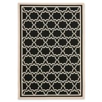 Safavieh Courtyard 8-Foot x 11-Foot Mariam Indoor/Outdoor Rug in Black/Beige