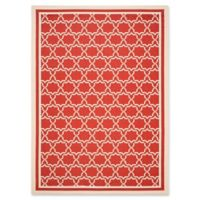 Safavieh Courtyard 8-Foot x 11-Foot Mariam Indoor/Outdoor Rug in Red/Bone