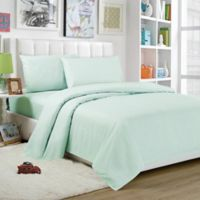 Lala + Bash Trina Twin Sheet Set in Seafoam