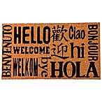 Multilingual Welcome 16-Inch x 28-Inch Coir Door Mat