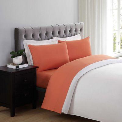 truly soft everyday xl twin sheet set in orange