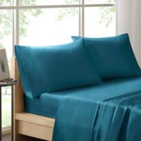 Sleep Philosophy Liquid Cotton Full Sheet Set in Teal
