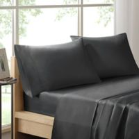 Sleep Philosophy Liquid Cotton Full Sheet Set in Grey