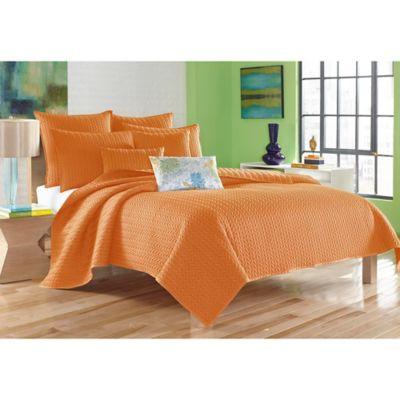 J. Queen New York™ Camden Twin Coverlet In Orange