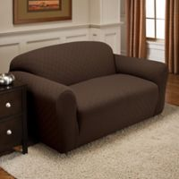 Newport Loveseat Stretch Slipcover in Chocolate