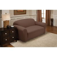 Newport Loveseat Stretch Slipcover in Cocoa
