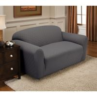 Newport Loveseat Stretch Slipcover in Grey