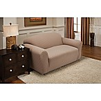Newport Loveseat Stretch Slipcover in Wheat