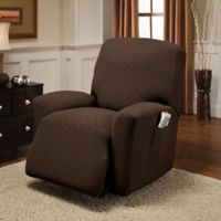 Newport Recliner Stretch Slipcover in Chocolate