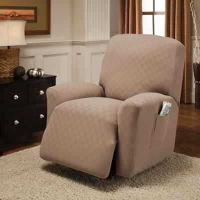 living room chair slipcovers. Newport Recliner Stretch Slipcover Chair Slipcovers  Bed Bath Beyond