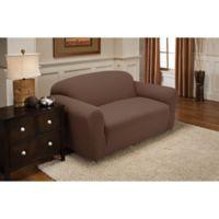 Newport Sofa Stretch Slipcover in Cocoa