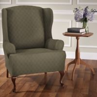 Newport Wingchair Stretch Slipcover in Sage
