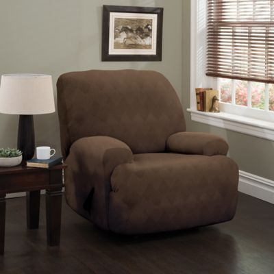 Optic XL Recliner Stretch Slipcover In Chocolate