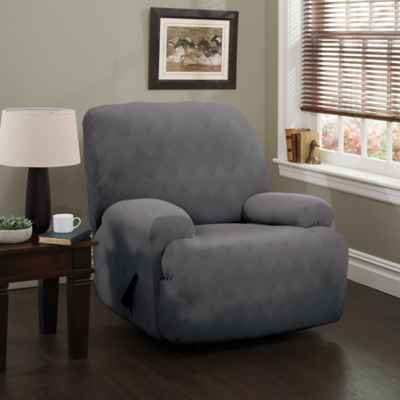 living room chair slipcovers. Optic XL Recliner Stretch Slipcover Chair Slipcovers  Bed Bath Beyond