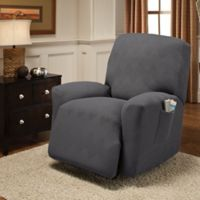 Optic Recliner Stretch Slipcover in Grey