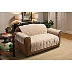 Plush Loveseat Protector in Cream