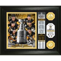 NHL Pittsburgh Penguins 2017 Stanley Cup Champions Banner Bronze Coin Photo Mint
