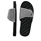 Men's Large Slide AquaFlops Shower Shoes in Grey/Black