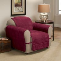 Ultimate Faux Suede Chair Protector in Burgundy