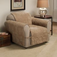 Ultimate Faux Suede Chair Protector in Camel