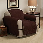 Ultimate Faux Suede Chair Protector in Chocolate
