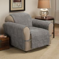 Ultimate Faux Suede Chair Protector in Grey