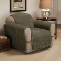 Ultimate Faux Suede Chair Protector in Sage