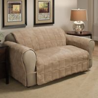 Ultimate Faux Suede Loveseat Protector in Natural