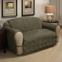 Ultimate Faux Suede Loveseat Protector in Sage