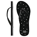 Women's Medium Star AquaFlops Shower Shoes in Black