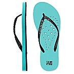 Women's Medium Heart AquaFlops Shower Shoes in Aqua