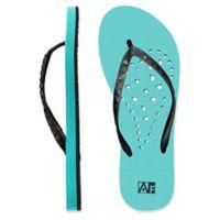 Women's Small Heart AquaFlops Shower Shoes in Aqua