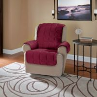 Plush Recliner and Wingback Chair Protector in Burgundy