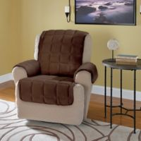 Plush Recliner and Wingback Chair Protector in Chocolate