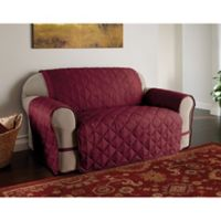 Microfiber Ultimate Loveseat Protector in Burgundy