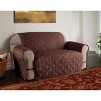 Microfiber Ultimate Loveseat Protector in Chocolate