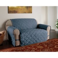 Microfiber Ultimate Sofa Protector in Slate Blue
