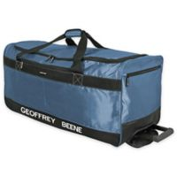 Geoffrey Beene Embroidered Duffle Wheeler in Blue