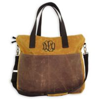 CB Station 16-Inch Waxed Canvas Multi-Pocket Travel Tote in Yellow