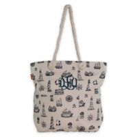 CB Station 15-Inch Knotted Marine Rope Tote in Navy