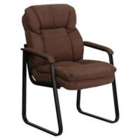 Flash Furniture Microfiber Side Chair in Brown