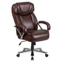 Flash Furniture Faux Big & Tall Leather Office Chair in Brown