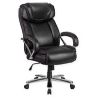 Flash Furniture Faux Big & Tall Leather Office Chair in Black