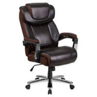 Flash Furniture Faux Leather Big & Tall High-Back Office Chair in Black