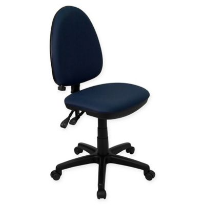 flash furniture midback fabric drafting chair with adjustable lumbar support in navy
