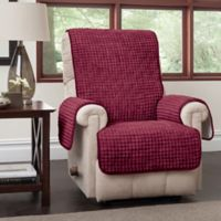 Puff Recliner and Wingback Chair Protector in Burgundy