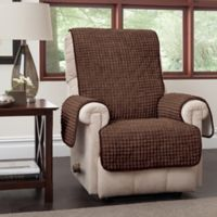 Puff Recliner and Wingback Chair Protector in Chocolate