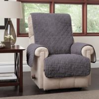 Puff Recliner and Wingback Chair Protector in Grey